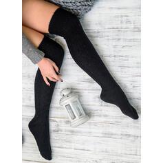 Colore solido Confortevole/Da donna/Calza altezza ginocchio Calzini/calze autoreggenti