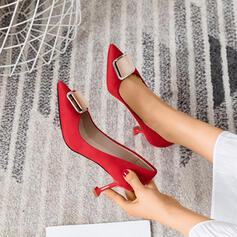 De mujer Ante Tacón stilettos Salón con Hebilla zapatos