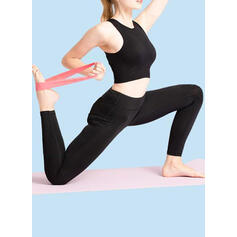 Color sólido Yoga Pull Band Bandas de resistencia física
