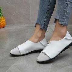 Vrouwen PU Flat Heel Flats met Ruched Anderen Effen kleur schoenen