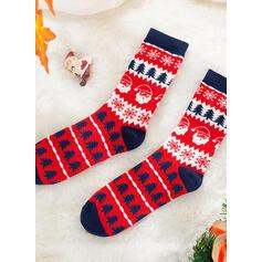 Vánoční strom/Vánoce Santa Komfortní/Vánoce/Posádkové ponožky/Rodinné odpovídající/Unisex Ponožky