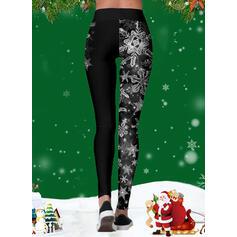 Stampa Natale Sportivo Yoga Ghette