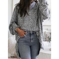Solid Plain Turtleneck Sweaters