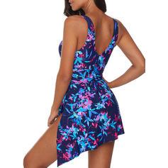 Imprimare tropicală Na ramínka Sexy Plus mărimea Plavkové šaty Costume de baie