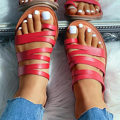 De mujer Piel brillante Tacón plano Sandalias Pantuflas con Agujereado zapatos