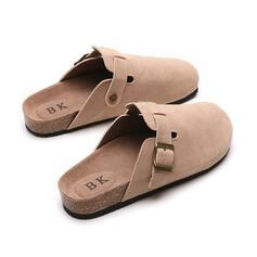 Donna Camoscio Senza tacco Ballerine con Fibbia Colore solido scarpe