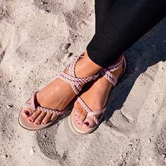 De mujer PU Tacón plano Sandalias Planos zapatos