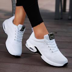 Dámské Látka Placatý podpatek Boty Bez Podpatku Nízká horní Kolem špičky Tenisky S Šněrovací Solid Color obuv
