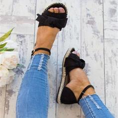 Женский дерматин Плоский каблук Сандалии Квартиры с пряжка обувь