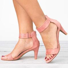 De mujer Tejido Tacón bajo Sandalias con Cremallera zapatos