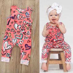 bébé Cœur Imprimé Coton Combinaison
