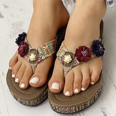 De mujer PVC Tacón plano Chancletas Pantuflas zapatos