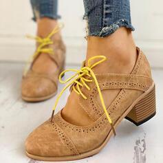 De mujer PU Tacón ancho Salón con Cordones zapatos
