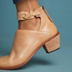 De mujer Cuero Tacón ancho Salón con Cordones zapatos