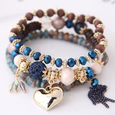 Heart Shaped Alloy Resin Women's Bracelets (Set of 3)