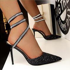 De mujer Brillo Chispeante Tacón stilettos Salón con Color sólido zapatos