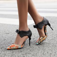 De mujer Cuero Tacón stilettos Salón con Hebilla zapatos