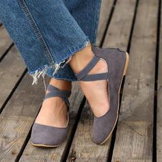 Pentru Femei PU călcâi plat Balerini cu Fermoar Lace-up Altele pantofi