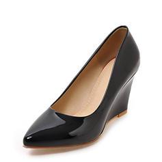 Pentru Femei Piele Breveta Platforme Înalte Închis la vârf Platforme cu Altele pantofi