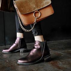 De mujer Cuero Tacón ancho Botas Botas al tobillo con Tacones con joya zapatos