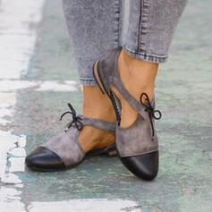 Γυναίκες PU Επίπεδη φτέρνα Διαμερίσματα Με Κουκούλα-έξω παπούτσια