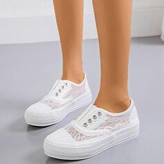 De mujer Encaje PU Casual al aire libre con Encaje zapatos