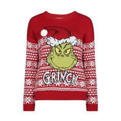 Unisex Polyester Tisk Písmeno Cartoon Ošklivý vánoční svetr