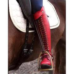 De mujer Cuero Tacón bajo Botas con Rivet Cremallera zapatos