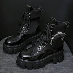Laarzen Enkel Laarzen Snowboots Martin Boots Hoge top Ronde neus met Rits Vastrijgen Anderen Colorblock Effen kleur schoenen