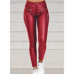 Solido arricciato Taglia grossa Sexy Vintage Pantaloni Ghette