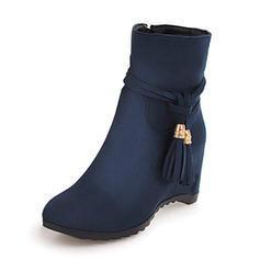 Kvinnor Mocka Kilklack Kilar Stövlar Boots skor