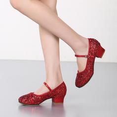 Mulheres Salão de Baile Saltos Espumante Glitter Salão de Baile