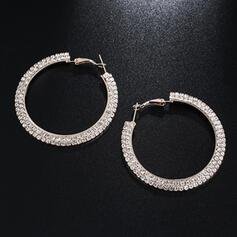 Luminoso Aleación Diamantes de imitación Pendientes (Juego de 2)