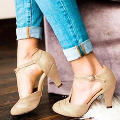 De mujer PU Tacón en cono Salón Punta cuadrada con Agujereado zapatos