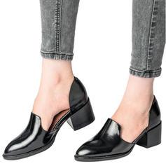 De mujer Cuero Tacón ancho Salón zapatos