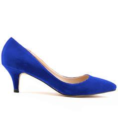 De mujer Ante Tacón en cono Salón Cerrados zapatos