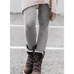 Pevný Shirred Plus velikost Elegantní Sexy Kalhoty Legíny