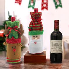 Boneco De Neve Bonito Desenho animado Boneco de neve Rena Papai Noel Natal Látex borracha Tampa de garrafa de vinho Jóias de Natal