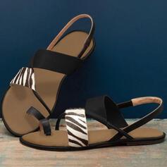 Επίπεδη φτέρνα Σανδάλια Ανοιχτά σανδάλια toe Με Διαχωρισμένη άρθρωση παπούτσια