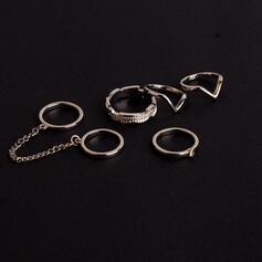 Μοναδικός Πανέμορφος Κομψός Κράμα Σετ Κοσμήματα Δαχτυλίδια (Σετ από 5 ζεύγη)
