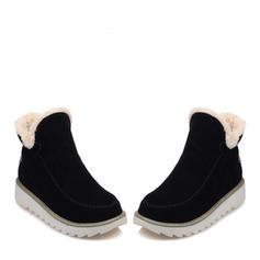 Pentru Femei Piele de Căprioară Fară Toc Cizme Botine Cizme de Iarnă cu Altele pantofi