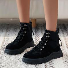 Καμβάς Χαμηλή τακούνια Martin Boots Στρογγυλά παπούτσια Με Χρώμα ματίσματος παπούτσια