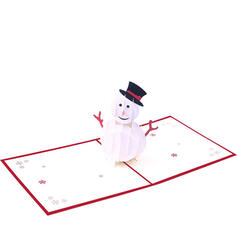 Christmas Colourful Multi-functional Delicate Snowman Christmas Card Paper Greeting Cards (Sold in a single piece)