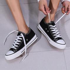Dla kobiet Material Płaski Obcas Plaskie Niskie góry Round Toe Espadrille Z Sznurowanie obuwie