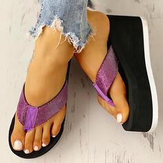 De mujer Tejido Tipo de tacón Sandalias Encaje Chancletas Pantuflas con Otros zapatos