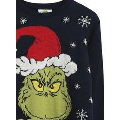 Unisex Polyester Tisk Písmeno Ošklivý vánoční svetr