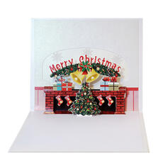 Christmas Colourful Multi-functional Delicate Christmas Card Paper Greeting Cards (Sold in a single piece)