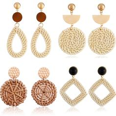 Unique Exquisite Stylish Alloy Textile Earrings Beach Jewelry (Set of 4 pairs)