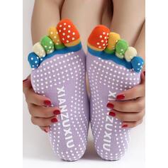 Puntíky Komfortní/Dámské/Posádkové ponožky/Non Slip/Prst Ponožky