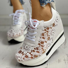 Women's Mesh PU Casual With Stitching Lace Lace-up shoes